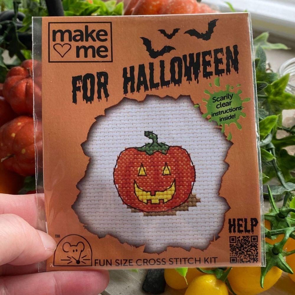 Fun Cross Stitch Kit ~ Pumpkin