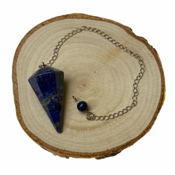 Lapis Lazuli Faceted Crystal Pendulum #339