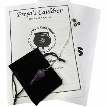 A Pendulum Starter Kit Incl Amethyst Pendulum and Instructions