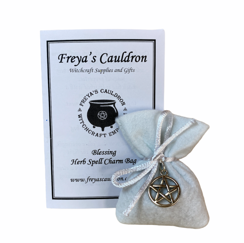 Herb Charm Bag ~ Blessing ~ with Pentagram Charm