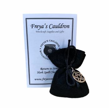 Herb Charm Bag ~ Return to Sender ~ With Pentagram Charm
