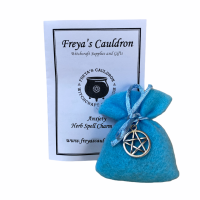 Herb Charm Bag ~ Anxiety ~ with Pentagram Charm