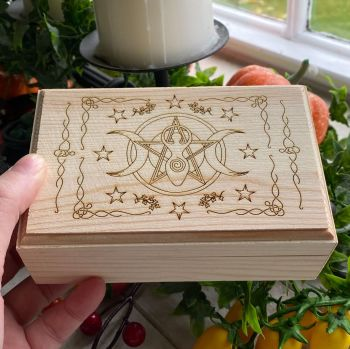 Box with Triple Moon Goddess Design