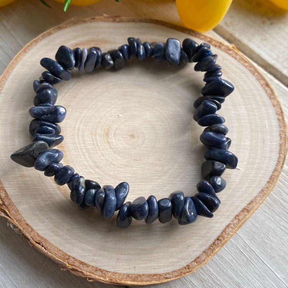 Sapphire Crystal Chip Bracelet