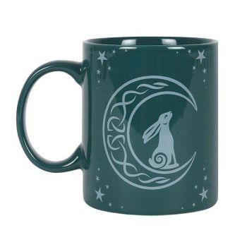 Moon Gazing Hare Green Mug