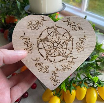 Heart Box with Decorative Pentagram Design