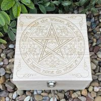 Wiccan Rede Wooden Storage Box