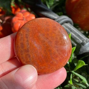 Fire Agate Smooth Stone ~ #1