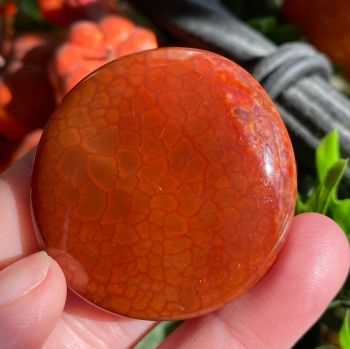Fire Agate Smooth Stone ~ #4