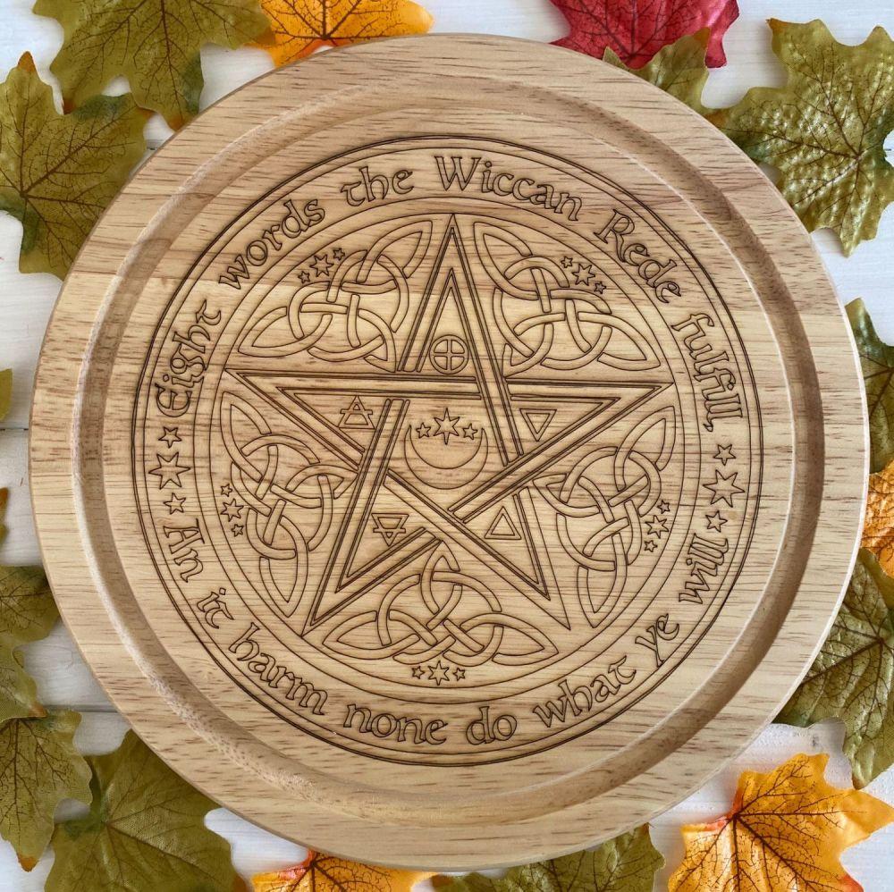 Wiccan Rede Pentagram Kitchen Board