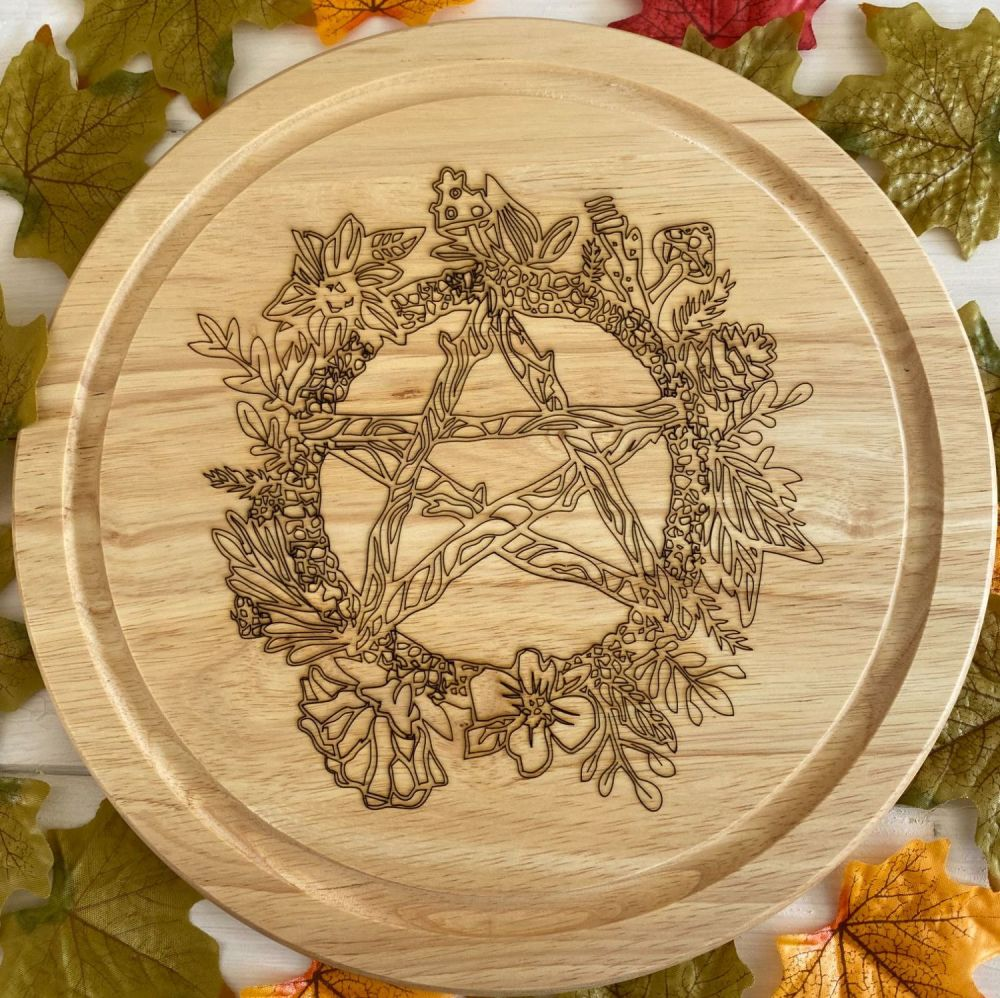 Rustic Pentagram Design Kitchen Board