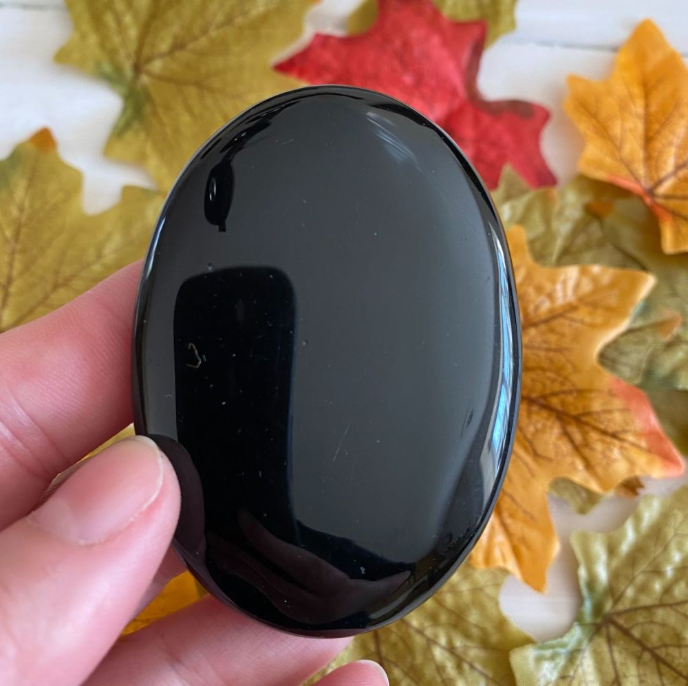 Black Obsidian Palm Stone #2