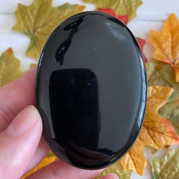 Black Obsidian Palm Stone #4