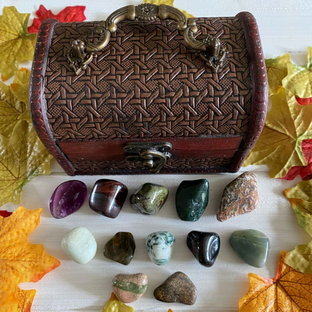 Crystal Keepers Chest and 12 Crystals ~ Set Two