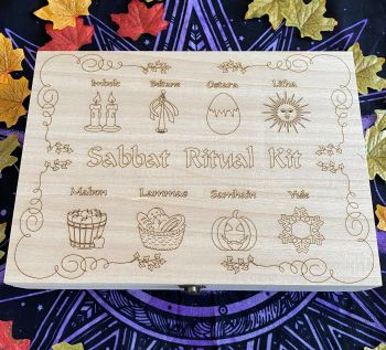 Sabbat Ritual Kit Wooden Box ~ empty for your own supplies