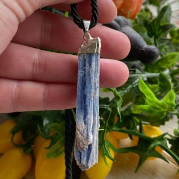 Blue Kyanite Pendant with Cord and Gift Box ~ #11