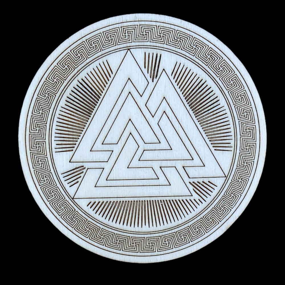 Norse Valknut Altar Tile