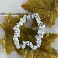 Howlite Crystal Chip Bracelet ~ SALE