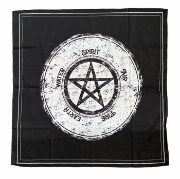 Pentagram and Elements Altar Cloth 67 cm x 70 cm