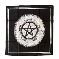 Pentagram and Elements Tarot Cloth 40 cm x 40 cm