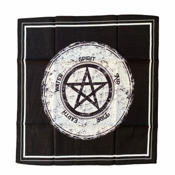 Pentagram and Elements Altar or Tarot Cloth 40 cm x 40 cm
