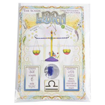 Zodiac Greeting Card with Crystal ~ Libra