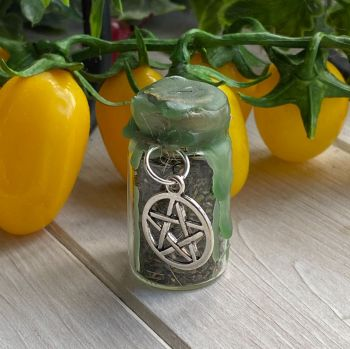 Hand Crafted Mini Spell Jar ~ Wealth