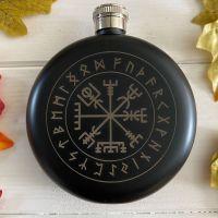 A Stunning Viking Compass Hip Flask
