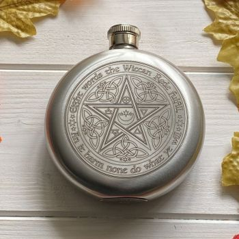 A Stunning Wiccan Rede Hip Flask ~ Gift Boxed