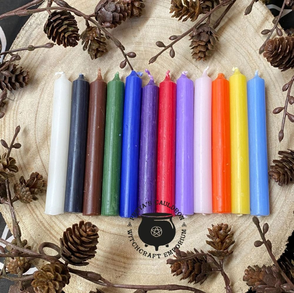 12 Mixed 10cm Spell Candles