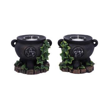 Ivy Cauldron T Light Candle Holders ~ Pair