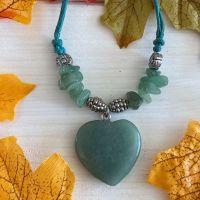 Crystal Heart Pendant ~ Green Aventurine