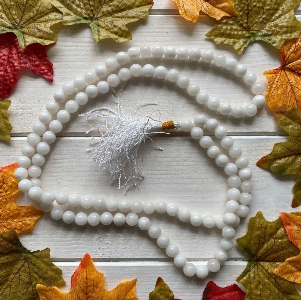 Mala Beads ~ White Quartz