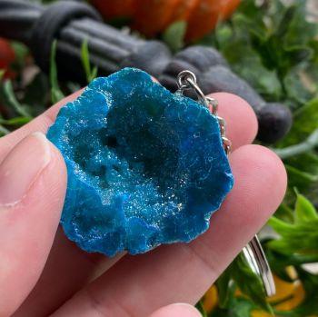 Geode Keyrings ~ Blue #3