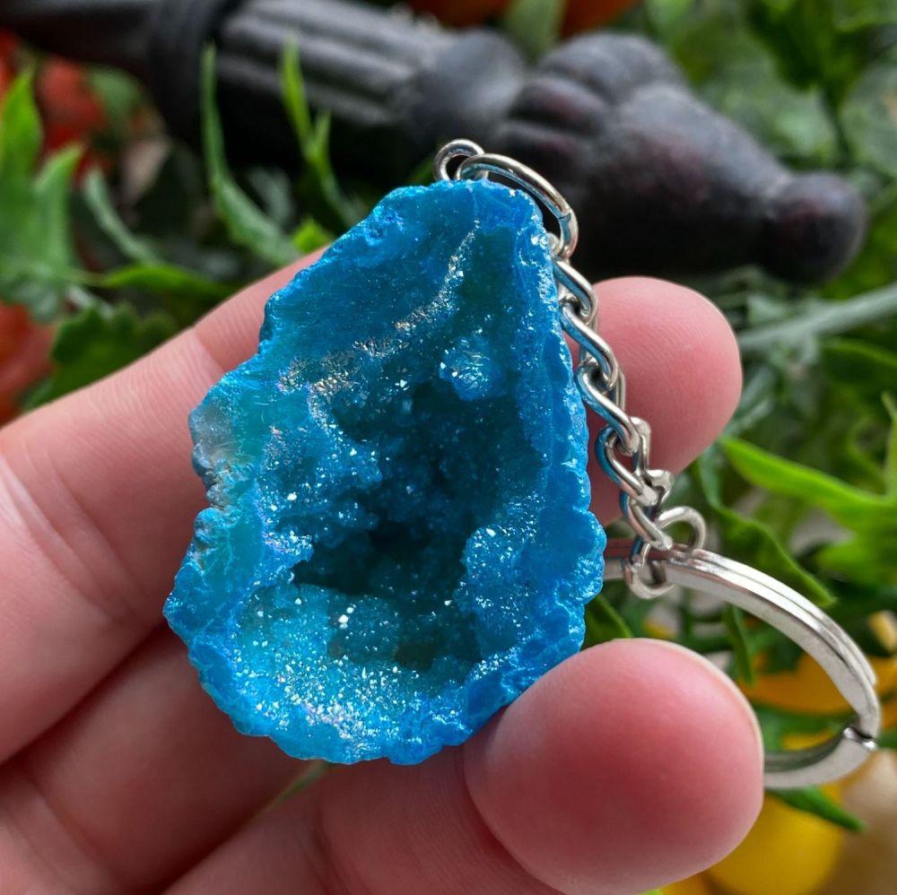 Geode Keyrings ~ Blue #5