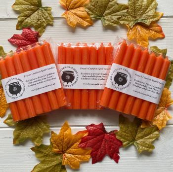 21 Orange 10 cm Spell Candles
