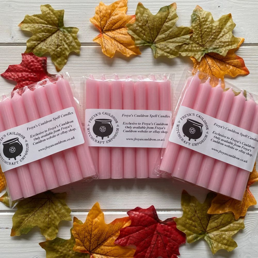 21 Pink 10 cm Spell Candles