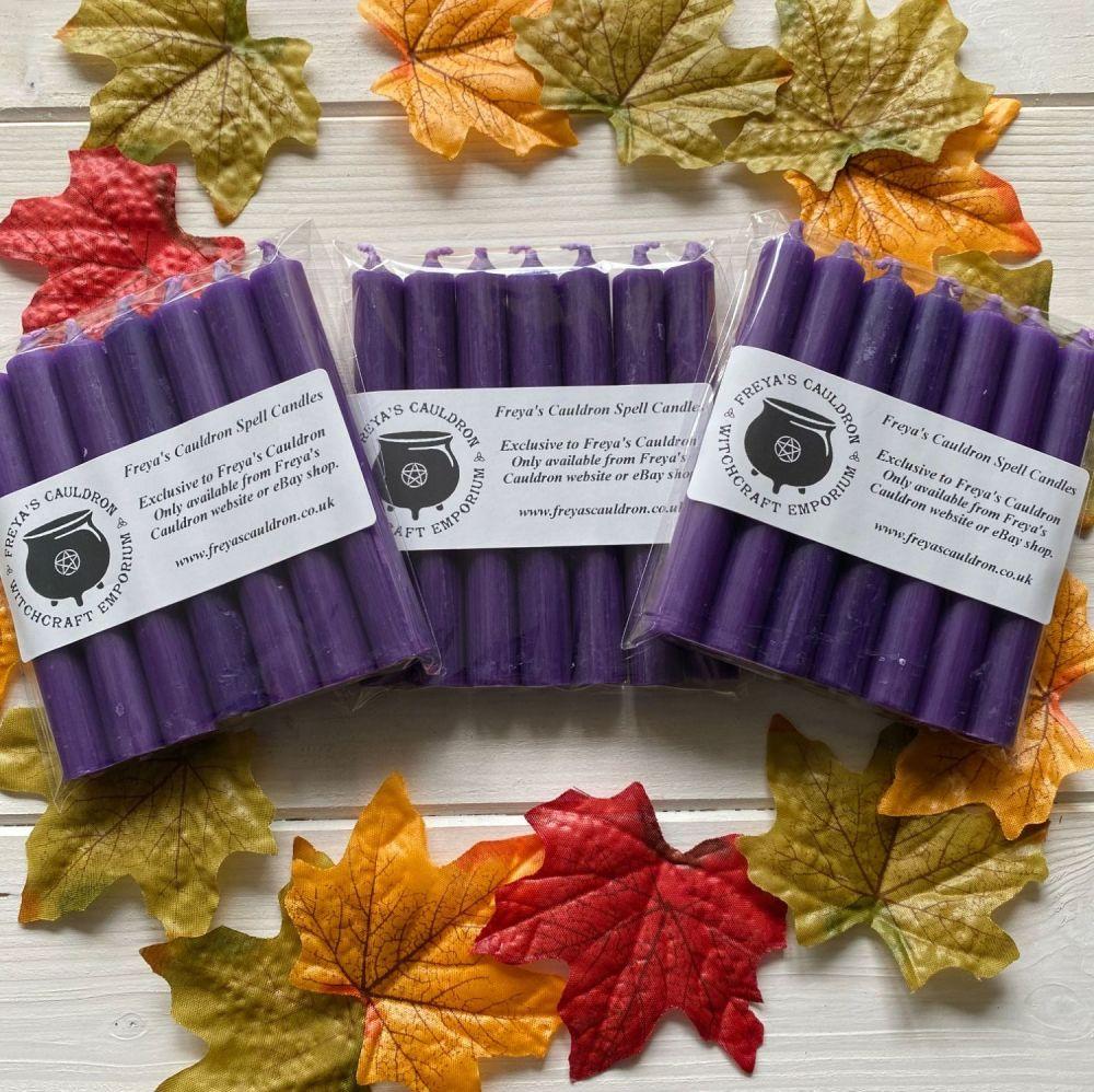 21 Purple 10 cm Spell Candles