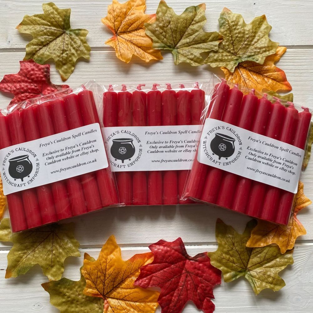 21 Red 10 cm Spell Candles