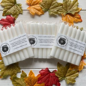 21 White 10 cm Spell Candles