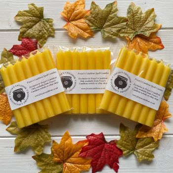 21 Yellow 10 cm Spell Candles