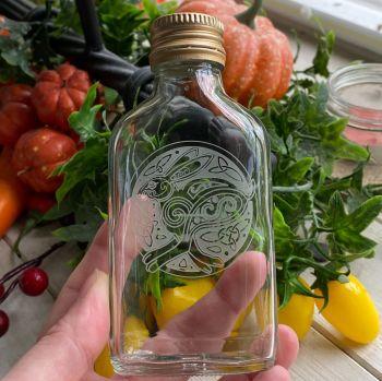 Glass Potion Bottle ~ Celtic Hare