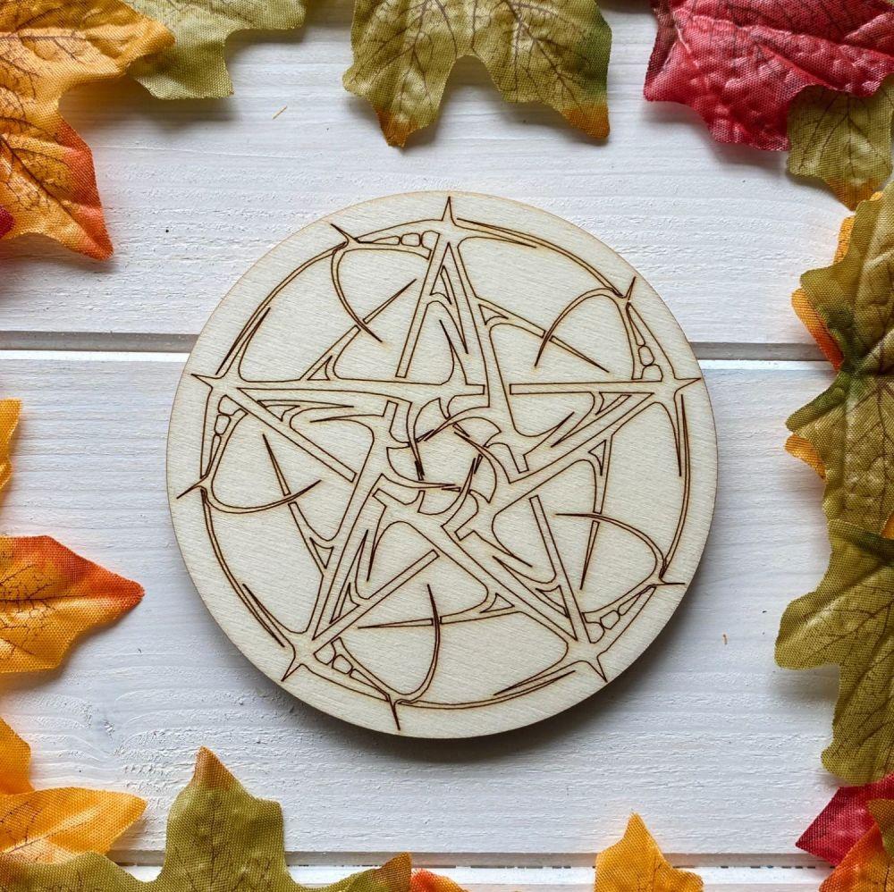 Decorative Pentagram Altar Tile