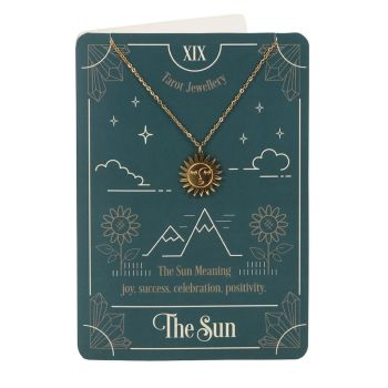 The Sun Tarot Necklace with Greeting Card