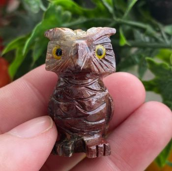 A Cute Soapstone Carved Animal ~ Owl #3