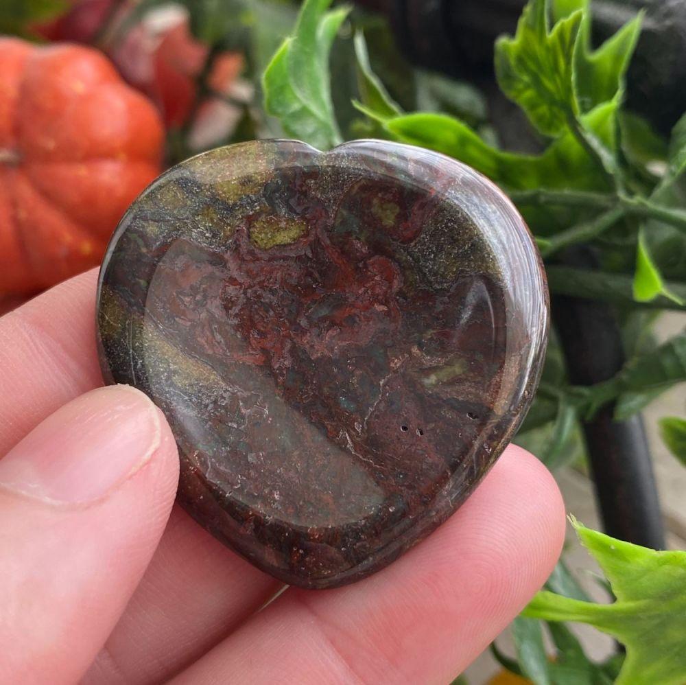 Dragon Stone Heart Thumb Stone #6