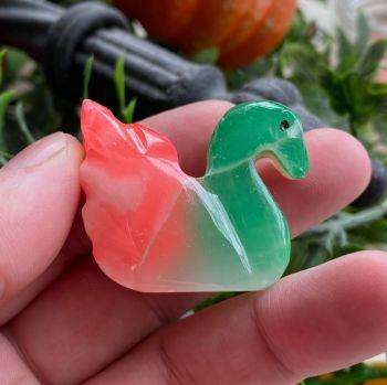 Rainbow Onyx Swan #D