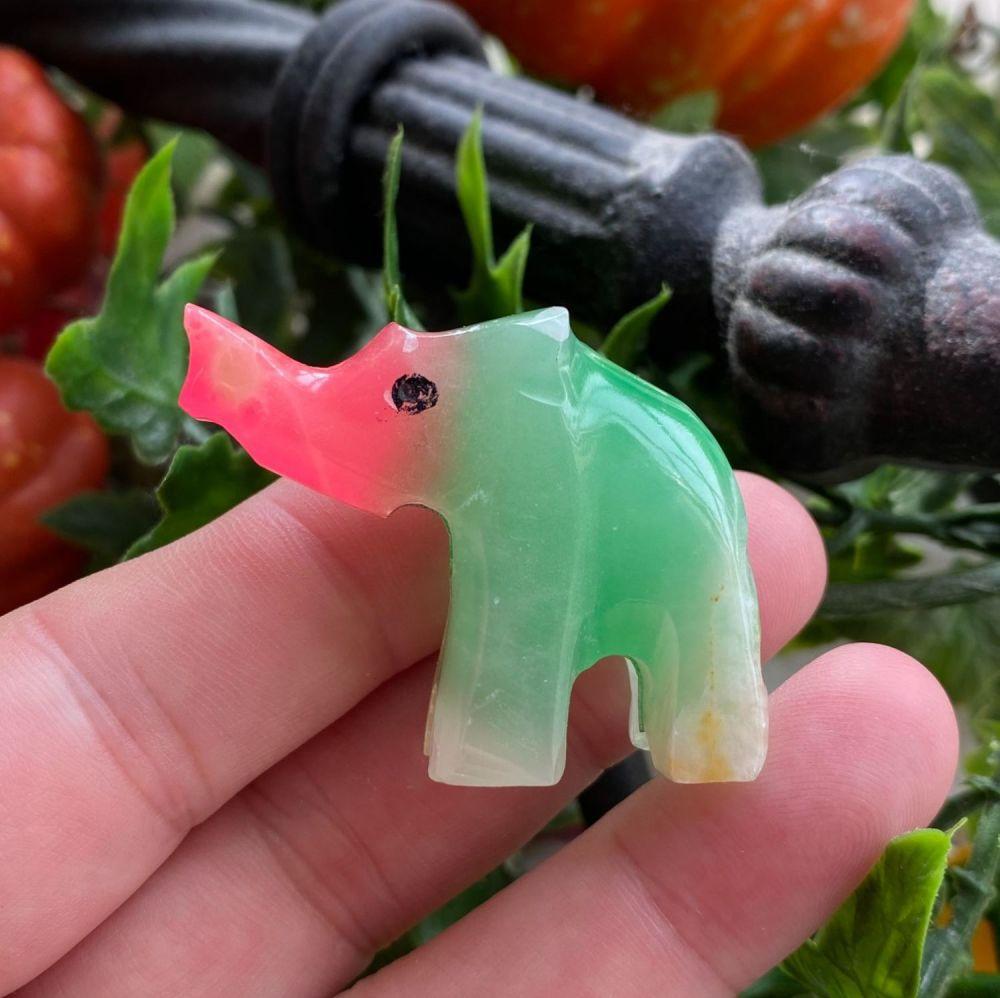 Rainbow Onyx Elephant #C