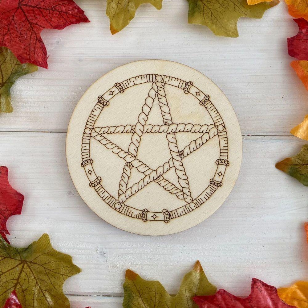 Rope Pentagram Altar Tile