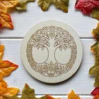 Tree of Life Altar Tile with Celtic Knotwork Border